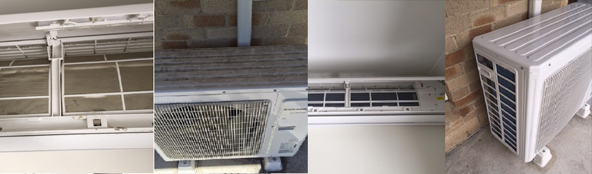 Before-After Split System Service Sunbury
